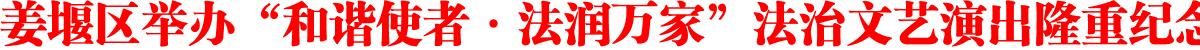 """姜堰区举办""""和谐使者·法润万家""""法治文艺演出隆重纪念国家宪法日"""